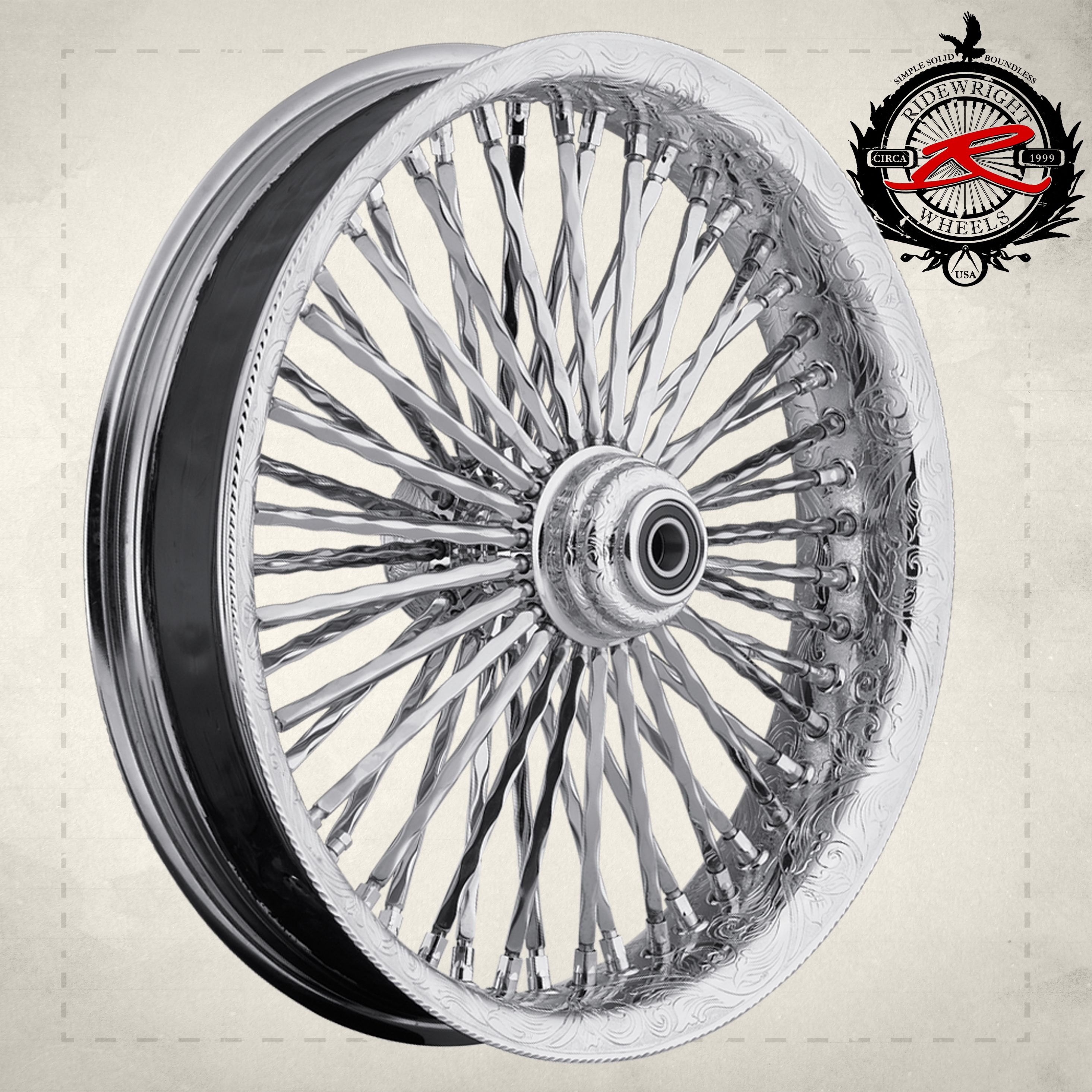 Ride wright wheels custom engraved harley davidson and other