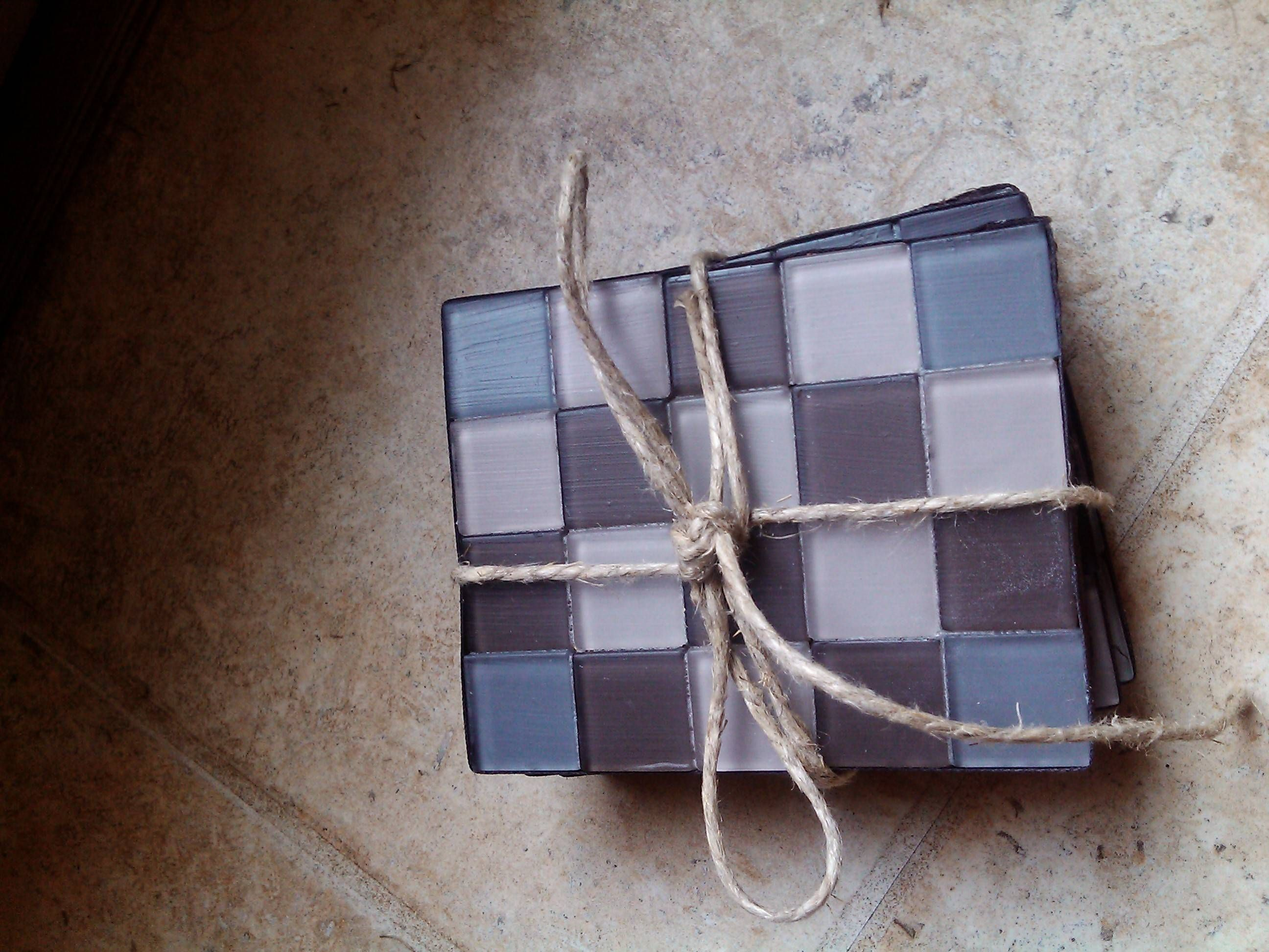Tile coasters!  Different types of tiles and designs. Contact me. Carrie.Charles@AOL.com.    (lowercase)