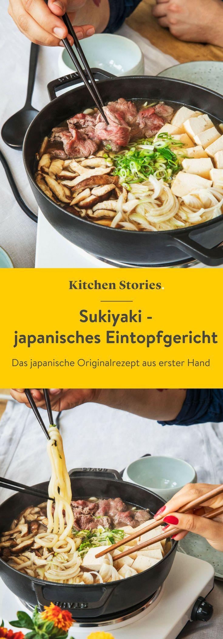 Sukiyaki (Japanisches Eintopfgericht) | Rezept | Kitchen Stories