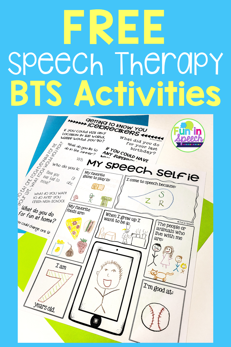 These Free Back To School Speech Therapy Activities Are Great For Getting To Know New Student School Speech Therapy Speech Therapy Activities Speech Activities [ 1152 x 768 Pixel ]