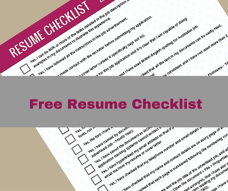 Get Your FREE Resume Checklist Here Don\u0027t submit 1 more job