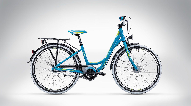 Cube Kid 240 Street Blue N Lime 2015 Fahrrad E Bike Gunstig