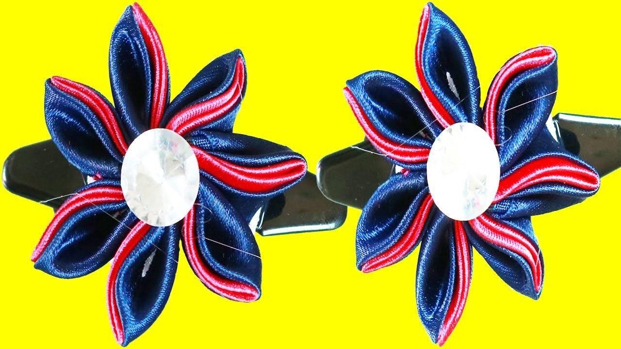 Sating Ribbon Hair Kanzashi Flowers Diy Easy Ways Diy Projects