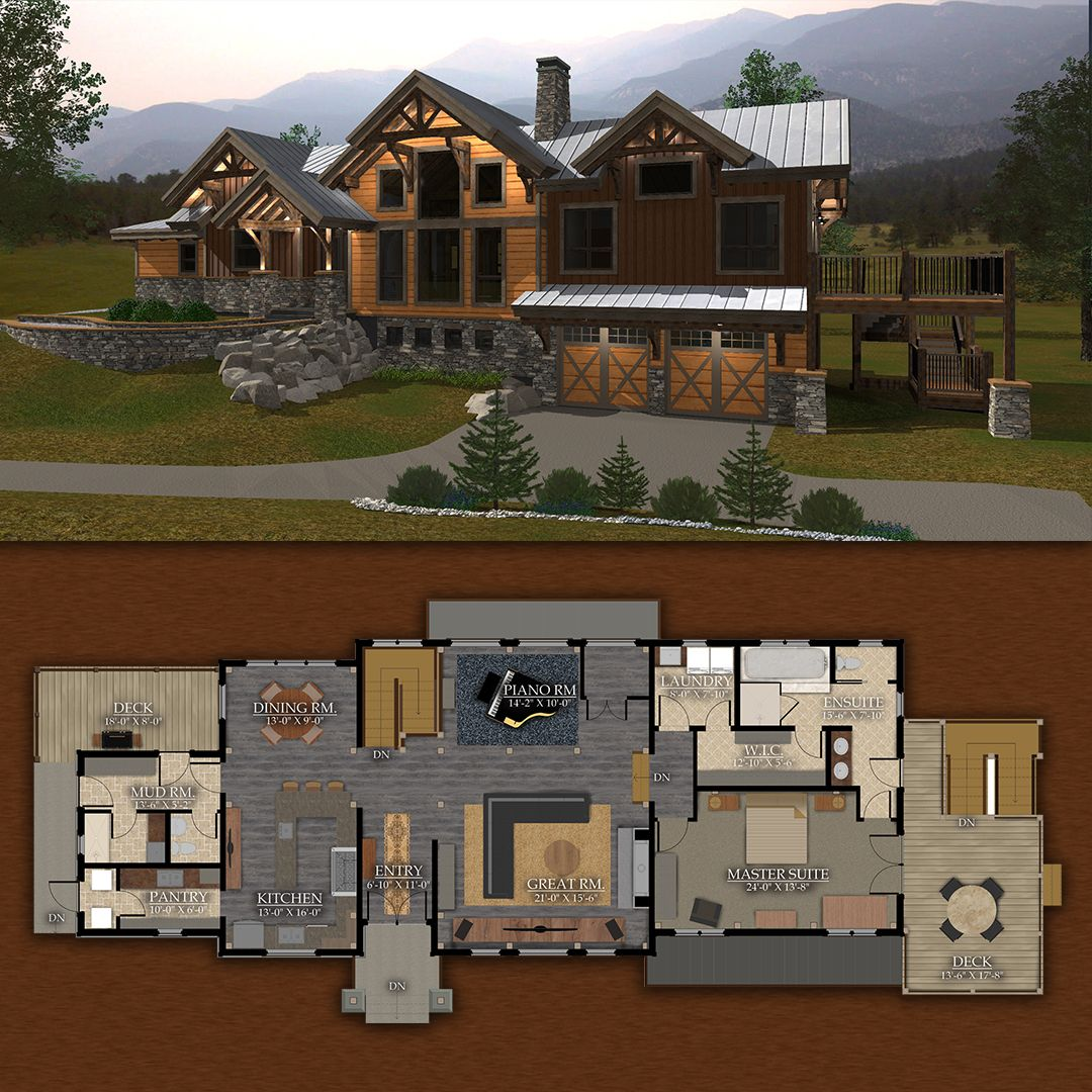 Rustic Redstone Timber Frame Design