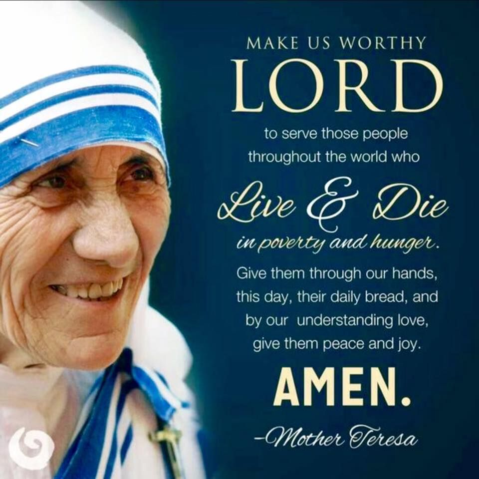 Saint Mother Teresa Quote Cf Quotes Of The Saints Pinterest