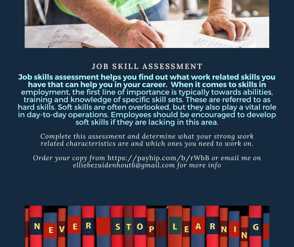 Job Skills Assessment In 2020 Management Skills Relationship Skills Time Management Skills