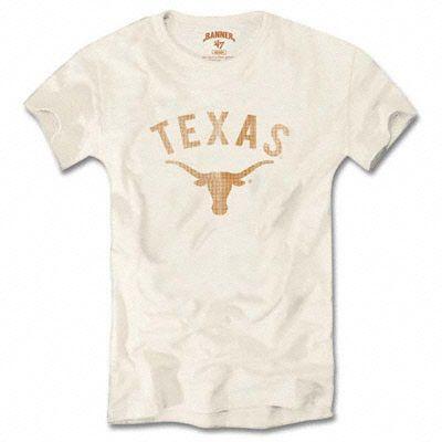fa31bbdaad410 Texas Longhorns Women s White  47 Brand Vintage Scrum T-Shirt