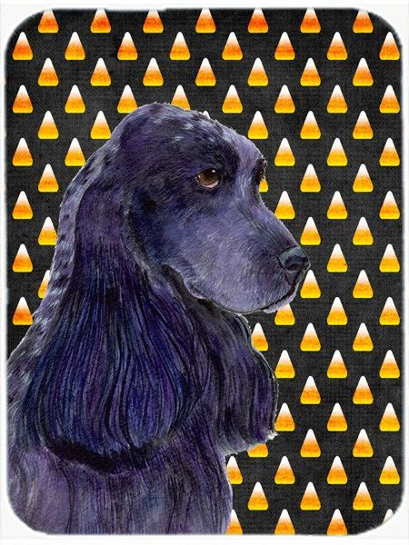 Cocker Spaniel Candy Corn Halloween Portrait Glass Cutting Board Large