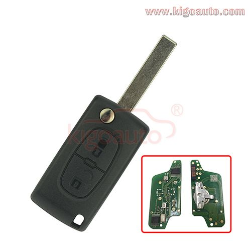 Ce0523 Flip Remote Key 2 Button Hu83 434mhz Pcf7941 Chip Ask For Peugeot 207 307 407 807 Key Car Alarm Car