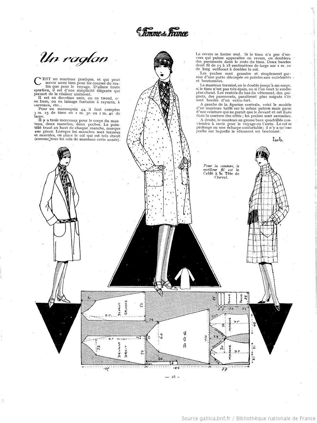 page 18 | france 1920 | Pinterest | Abrigos, Patrones de costura y ...