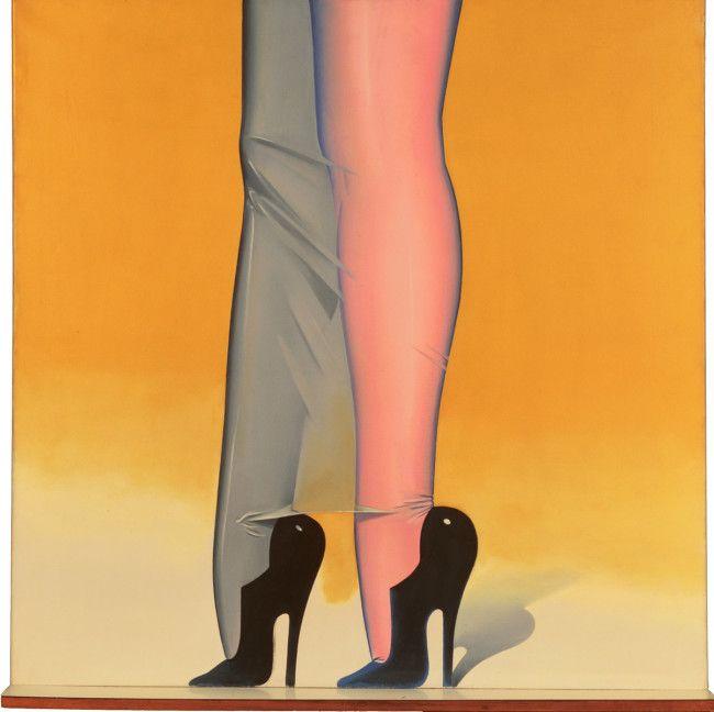 Allen Jones at Royal Academy. Female furniture guy.