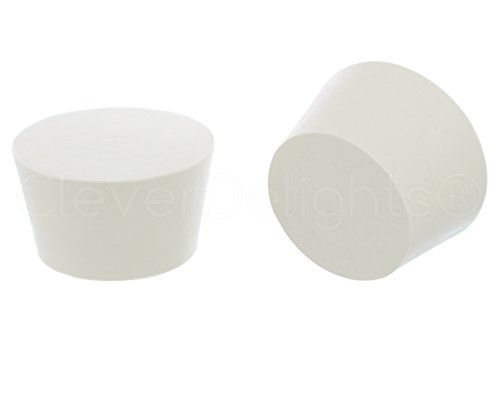 4 Pack Cleverdelights Solid Rubber Stoppers Size 13 68mm X 55mm 38mm Long White Lab Plug 13 4 Pack Size 13 T Rubber Stoppers White Lab Plugs