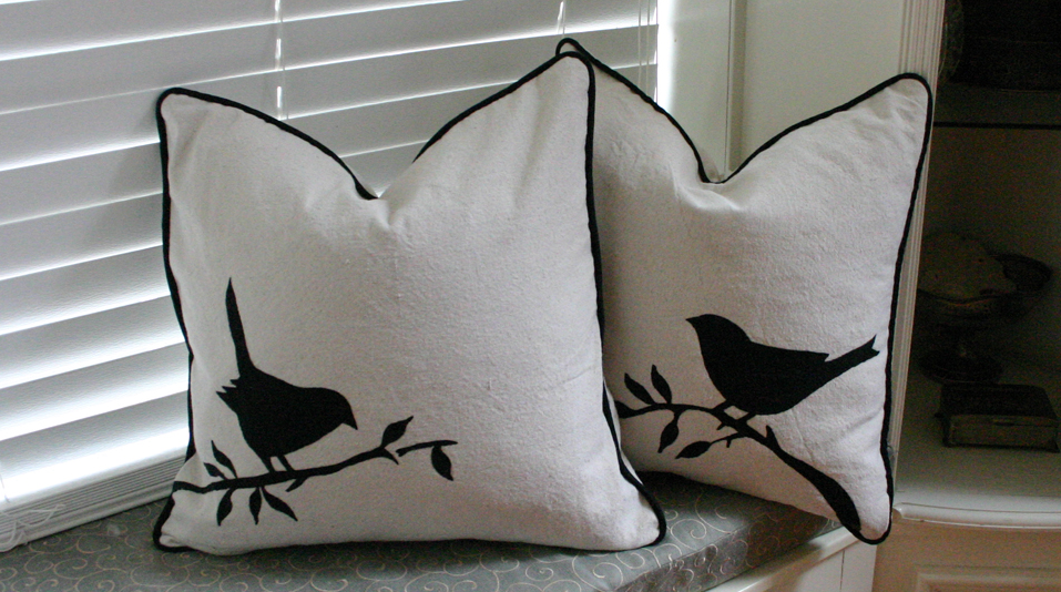 painted cushion cover