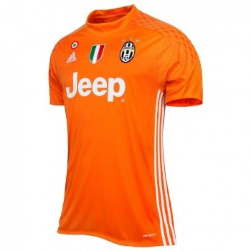 the latest 0895e fea94 Juventus 16/17 orange Goalkeeper soccer jersey. Buffon top ...