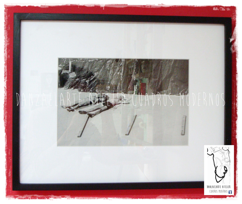 Fotografía enmarcada con 10 cm de paspartú blanco y varilla tipo ...