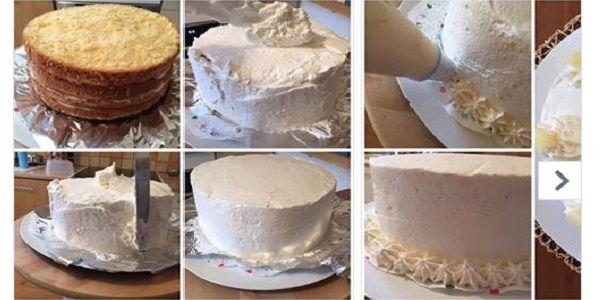 como hacer crema casera para decorar torta