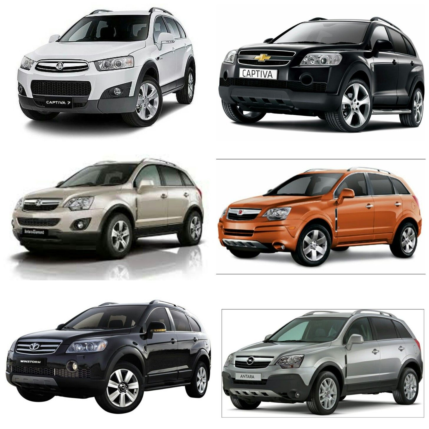 Holden captiva top left chevrolet captiva top right vauxhall antara