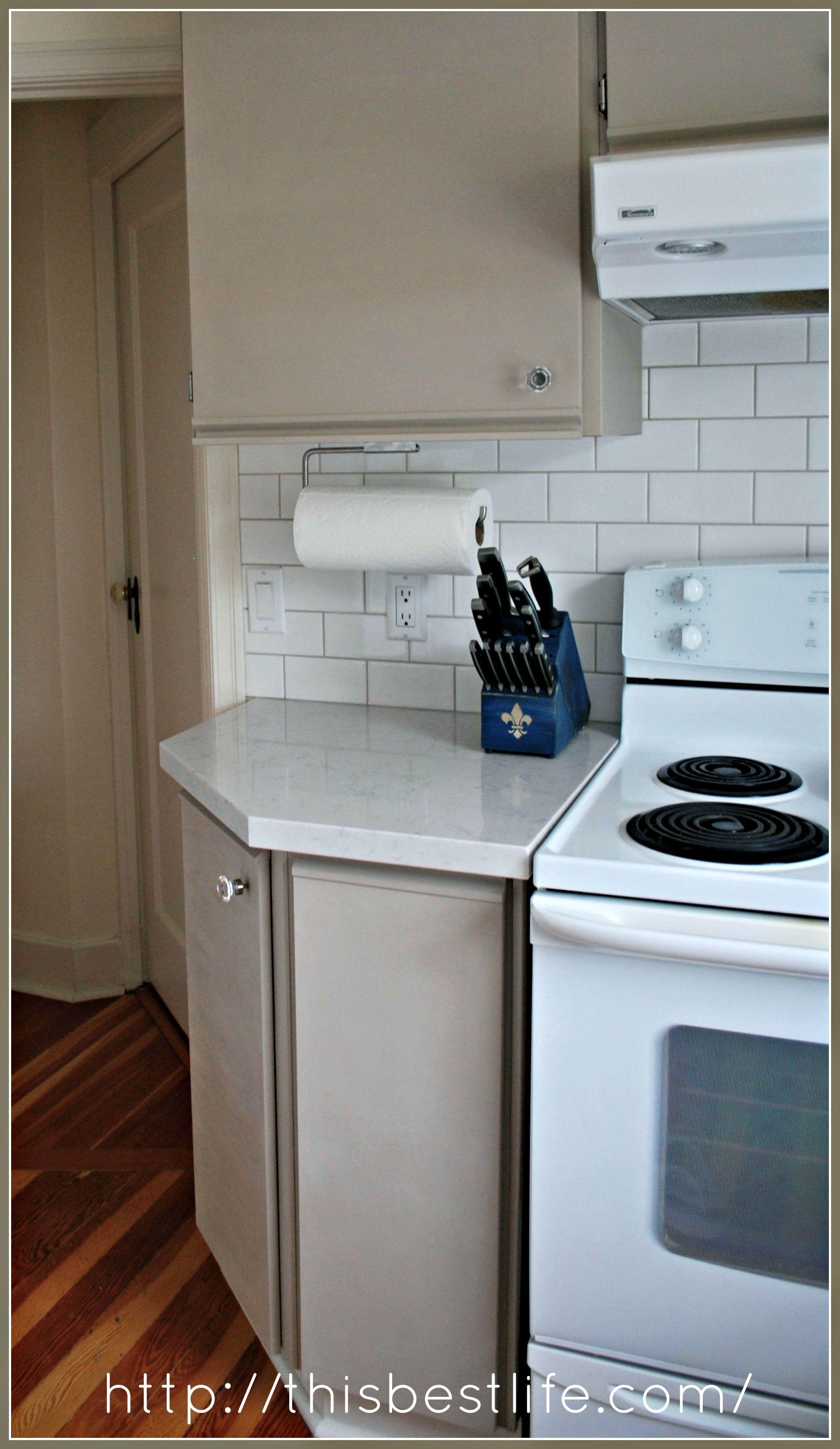 Painted Melamine cabinets | Kitchen | Pinterest