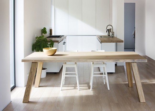 Solid Oak Scandinavian Dining Table