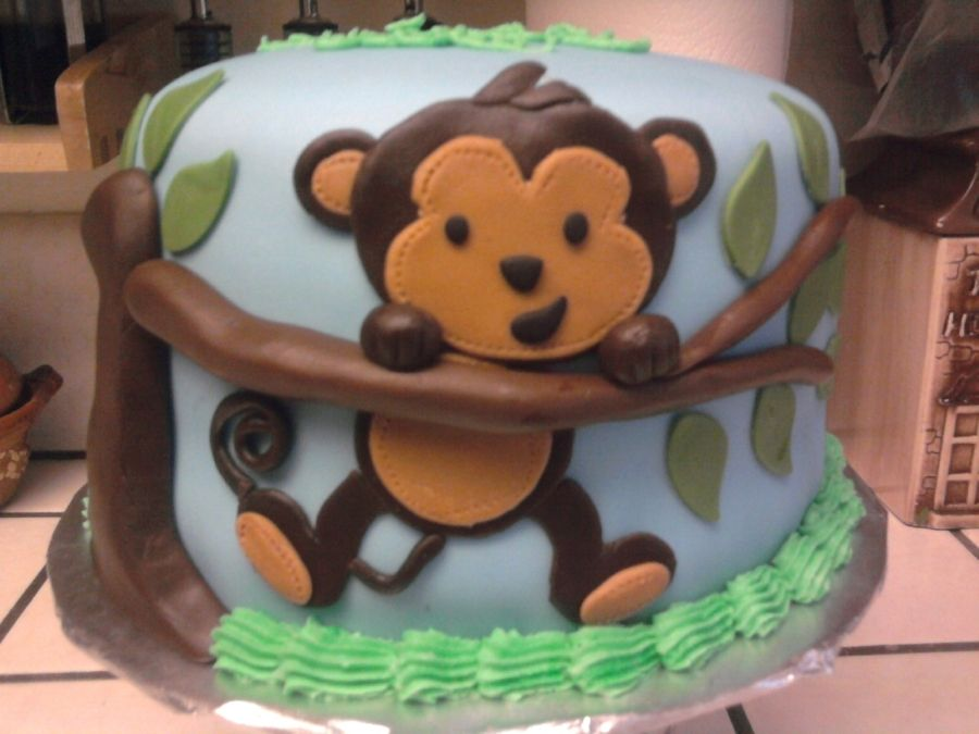 Monkey Birthday Cake on Cake Central Jaces first birthday