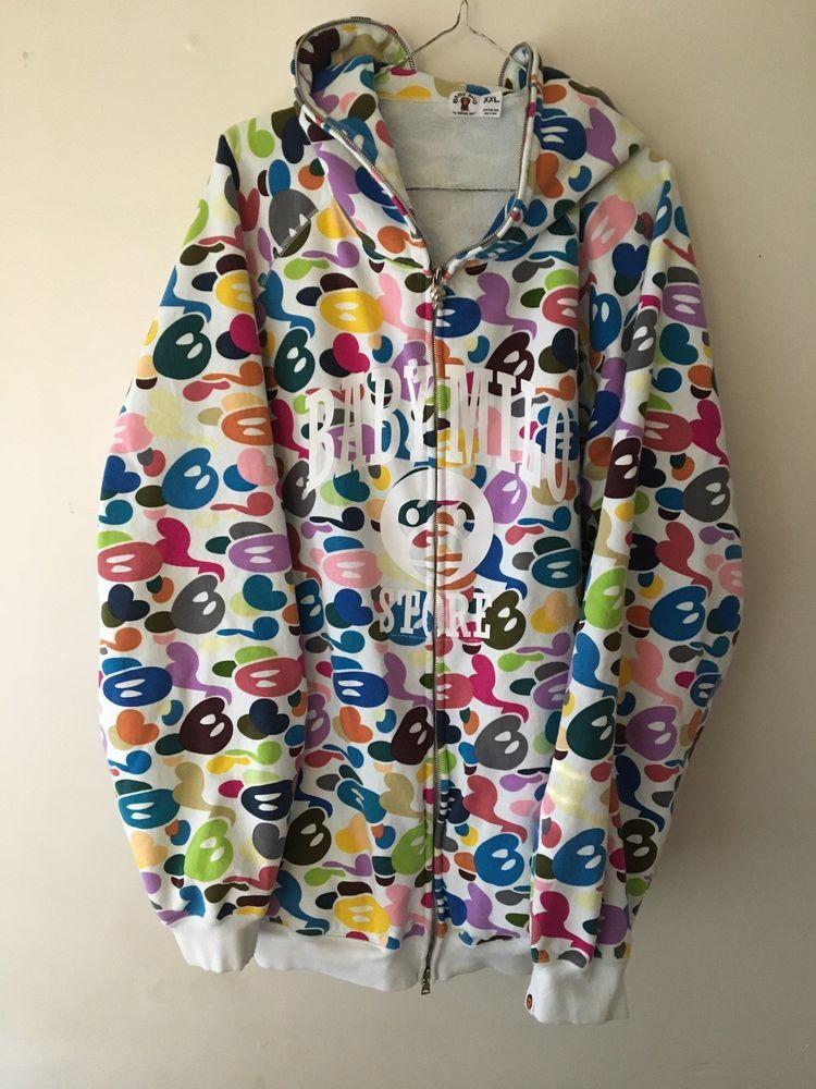 bd2d58d1c10b eBay  Sponsored Baby Milo Store Full Zip Hoodie By A Bathing Ape Bape Early  2000s XXL hat shirt