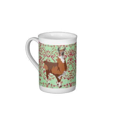 Golden Llama Damask Mug Bone China Mugs