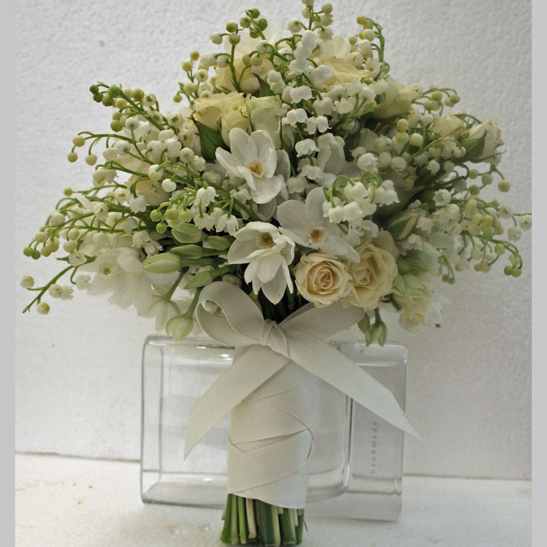 Lily Of The Valley Wedding Flowers: White Bouquet With Lilly Of The Valley