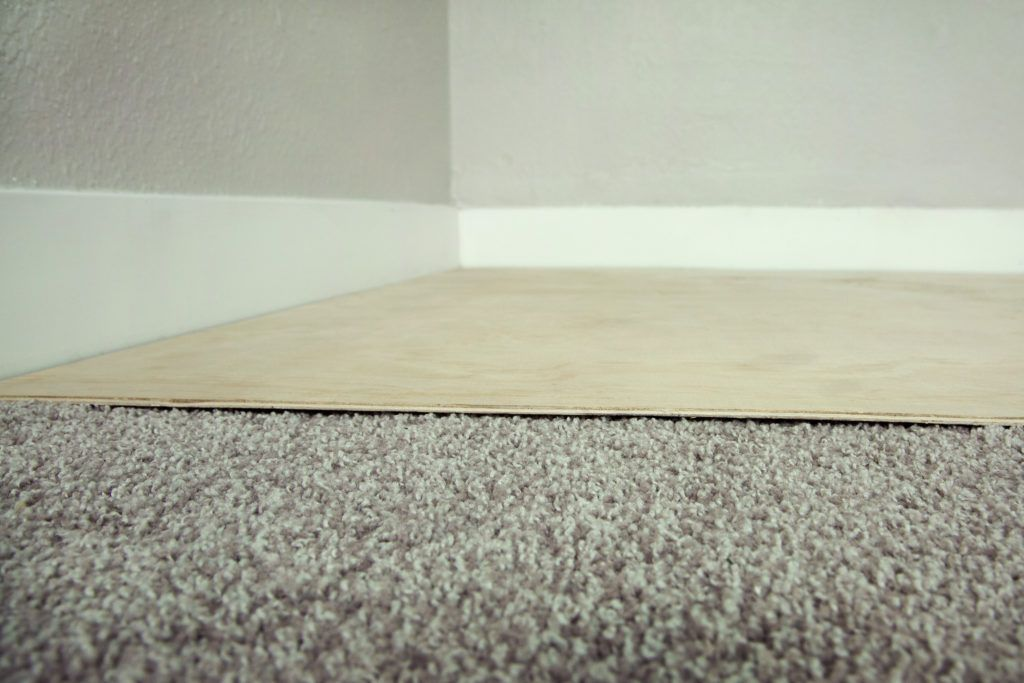 Plywood over carpet in 2020 Gym flooring, Home gym