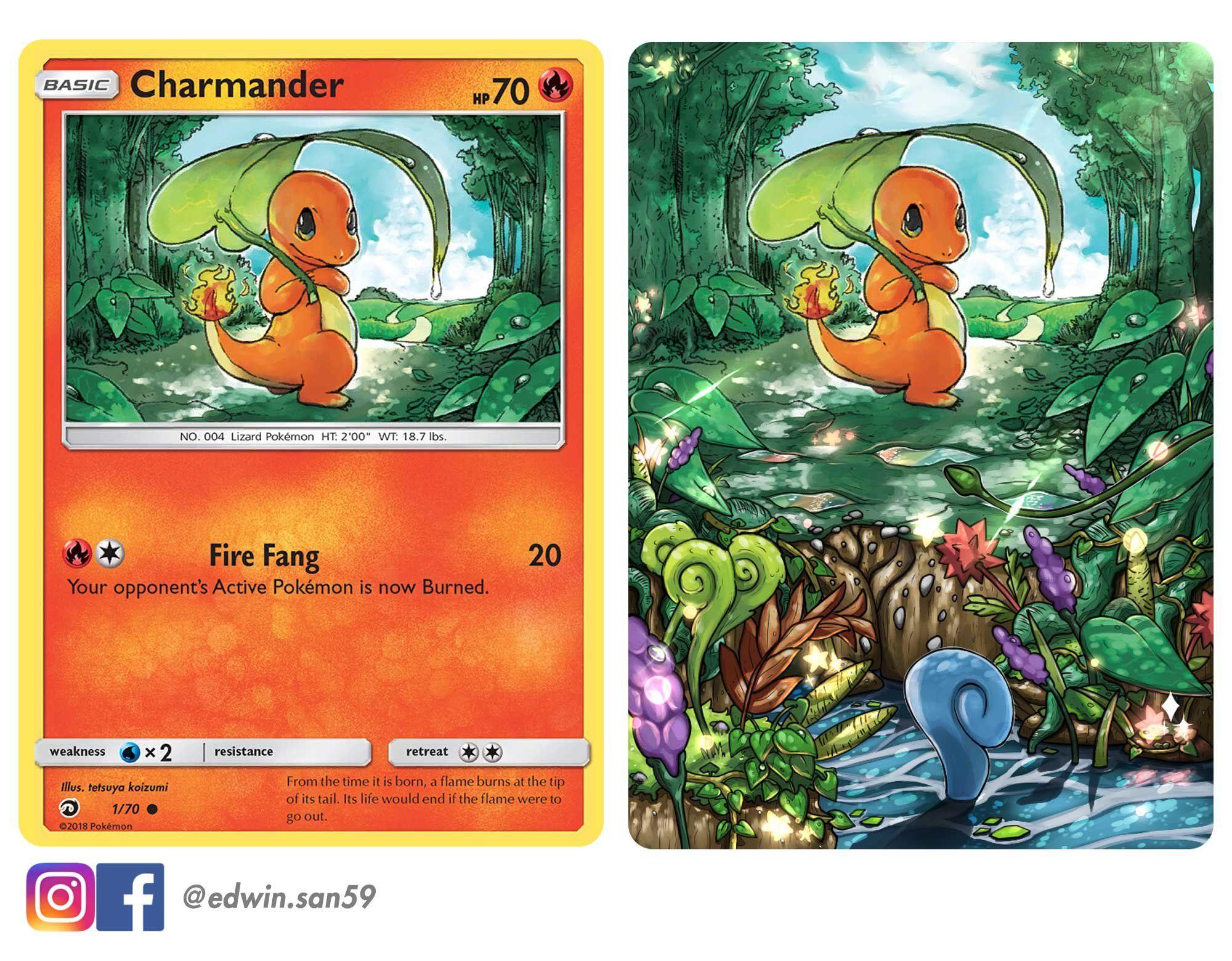 Charmander full art card done by me pokemon card art