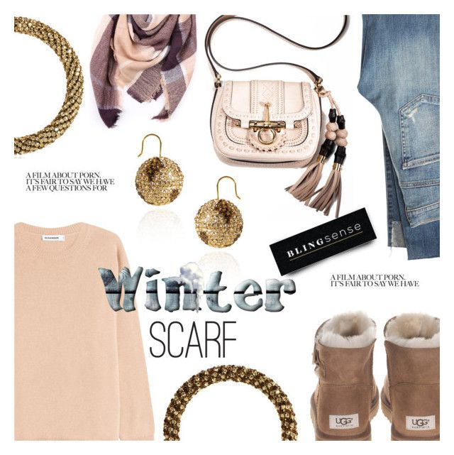"""""""Winter Scarf Style"""" by blingsense ❤ liked on Polyvore featuring UGG, Citizens of Humanity, Gucci, Jil Sander and Everest"""