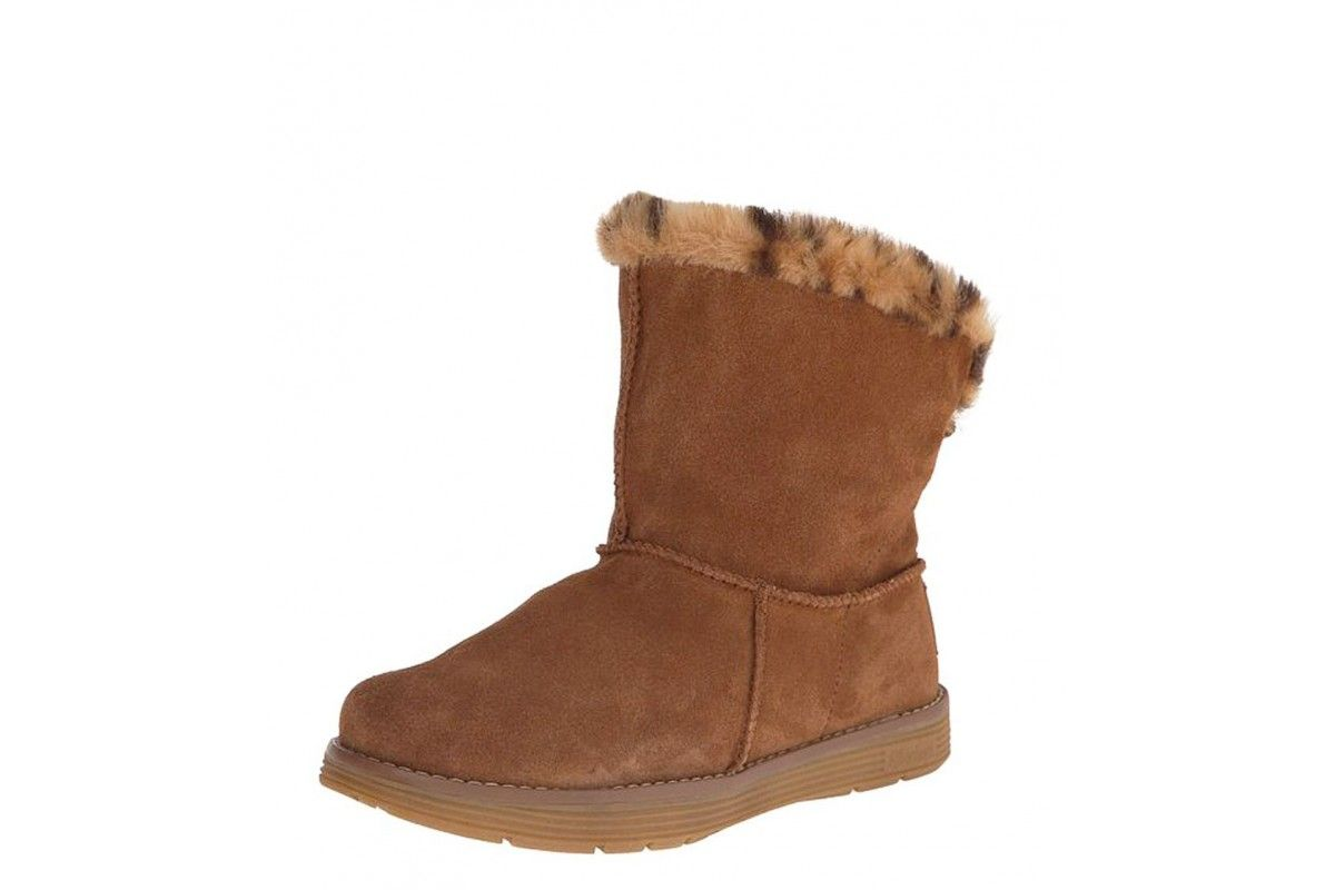 Skechers Adorbs Polar Chestnut Fur Lined Women S Ankle Boots