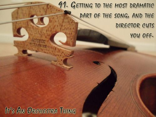 It's an orchestra thing.