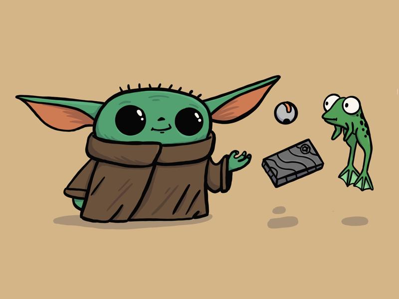Baby Yoda Yoda Drawing Star Wars Painting Cute Drawings
