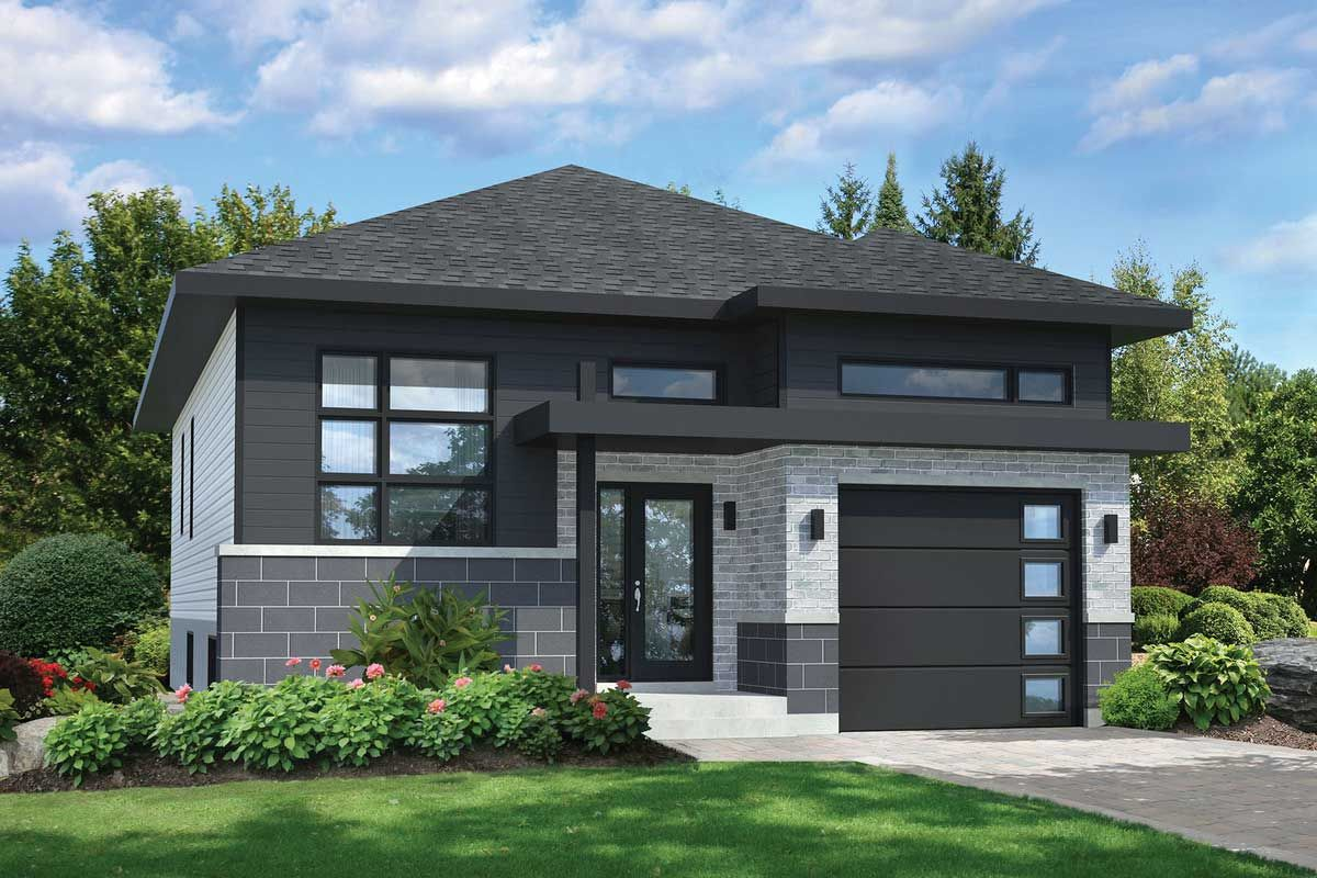 Plan 80794pm Compact Contemporary House Plan In 2020 Modern Style House Plans Contemporary House Plans Small House Exteriors