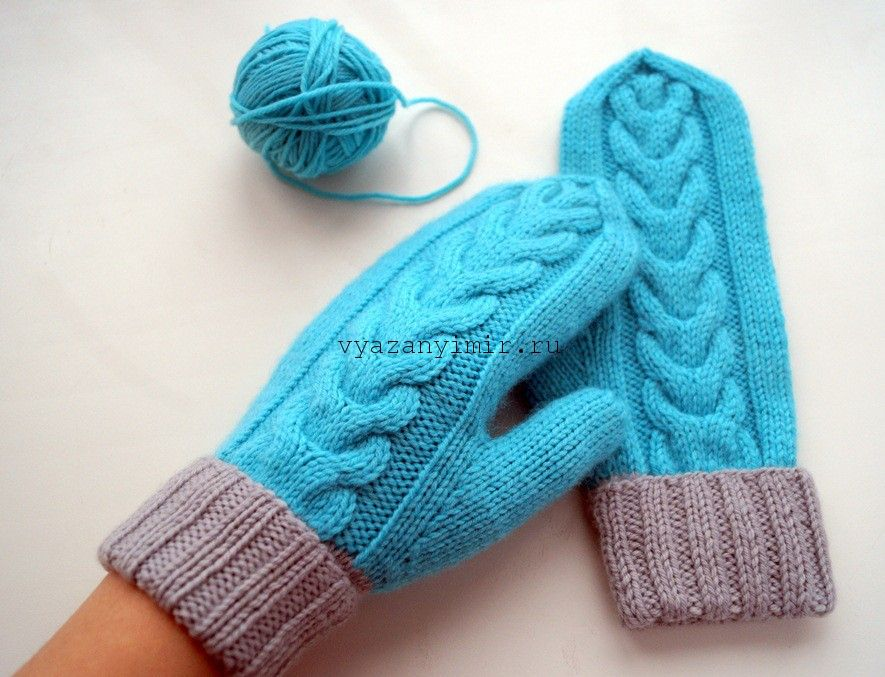 Варежки с косами. Схема | вязание спицами | Knitting socks ...