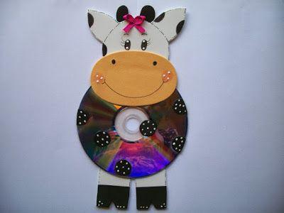 más y más manualidades Manualidades con viejos CDs MANUALIDADES