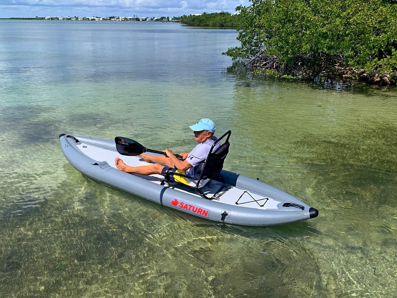 Saturn 12 Inflatable Pedal Kayak Pk365 In 2020 Pedal Kayak Kayaking Pedal Powered Kayak