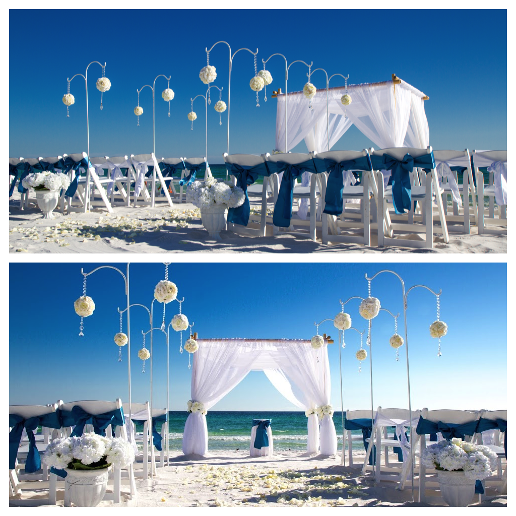Blue Beach Wedding Legacy Beach Package By Princess Wedding Co Destin Florida Beach Wedding