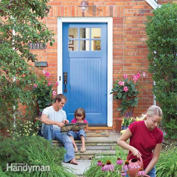 paint exterior door or trim first. how to replace an exterior door paint or trim first e