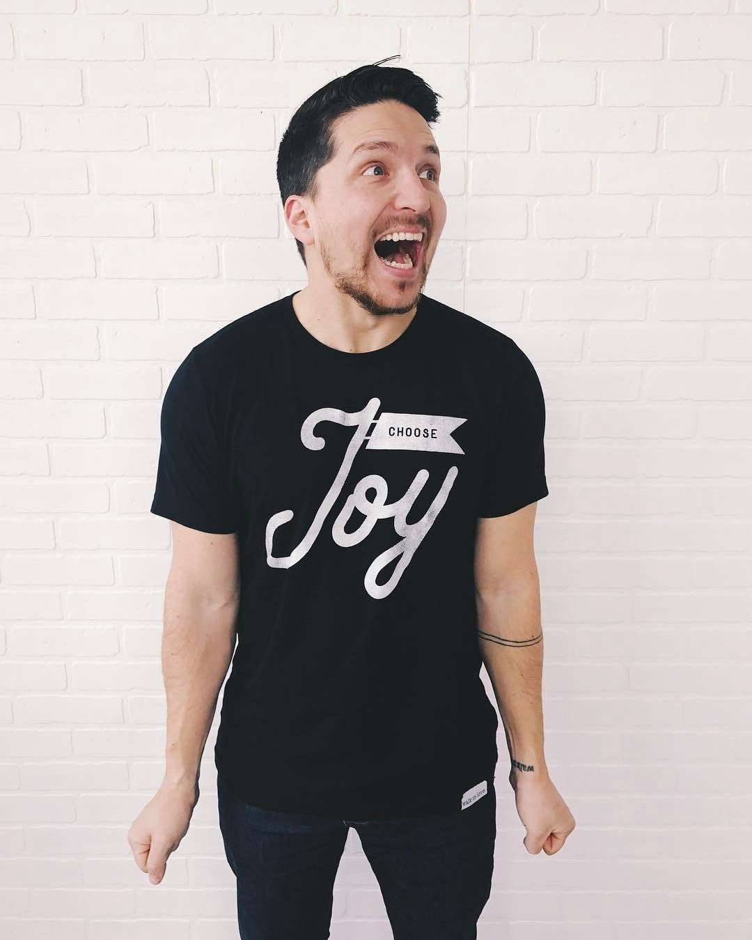 Black t shirt goes with - Choose Joy Solid Black T Shirt