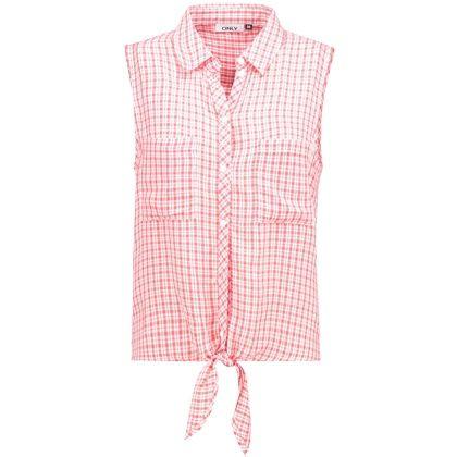 Süße #Bluse in Rot von #Only. Das schöne #Karomuster und ein Knoten-Design am Saum geben der Bluse einen tollen Cowgirl-Look. <3 ab 16,15 €
