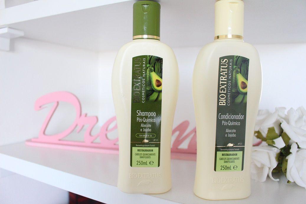 Shampoo Pos Quimica Abacate E Jojoba Bio Extratus Bio Extratus