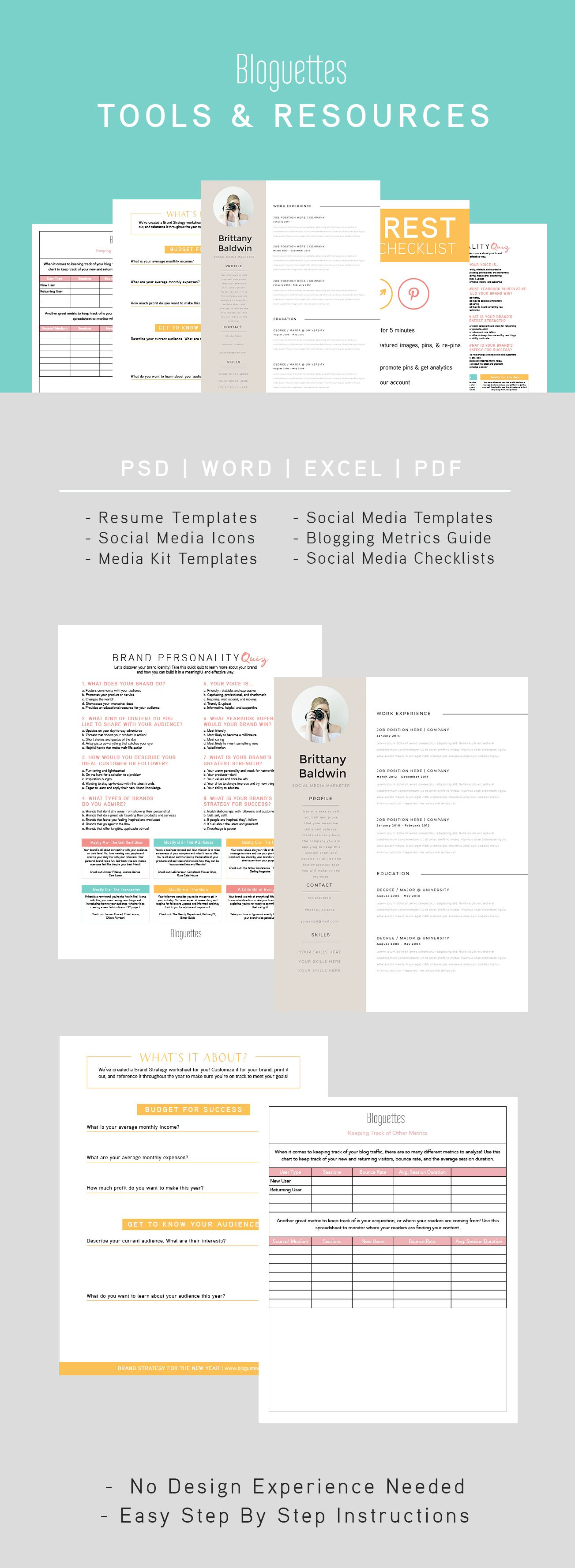 If You're In Need Of A Social Media, Blogging, Or Branding Tool We've Got  One. Check Out The Bloguettes Toolbox For All Your Downloadable Needs!