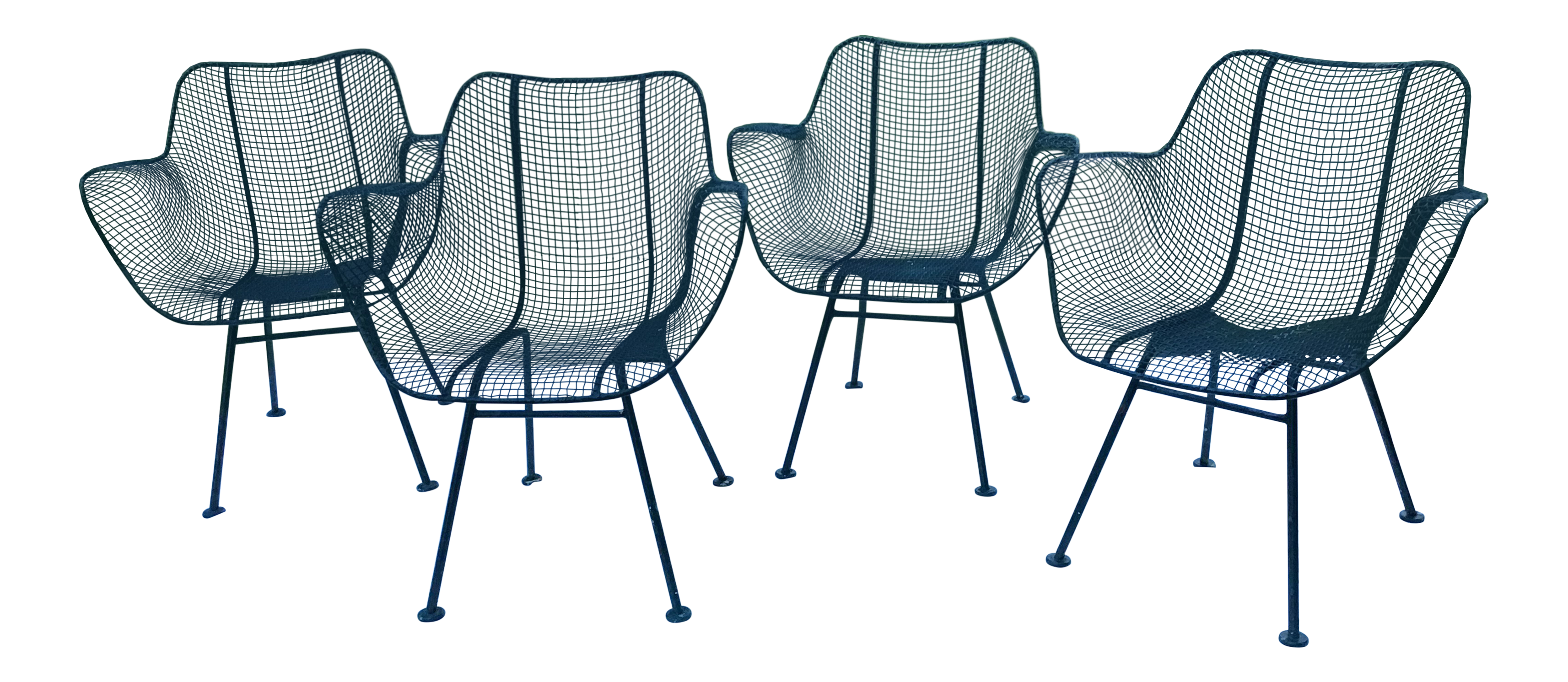 Russell Woodard Sculptura Wought Iron Chairs - Set of 4 | Chairish ...
