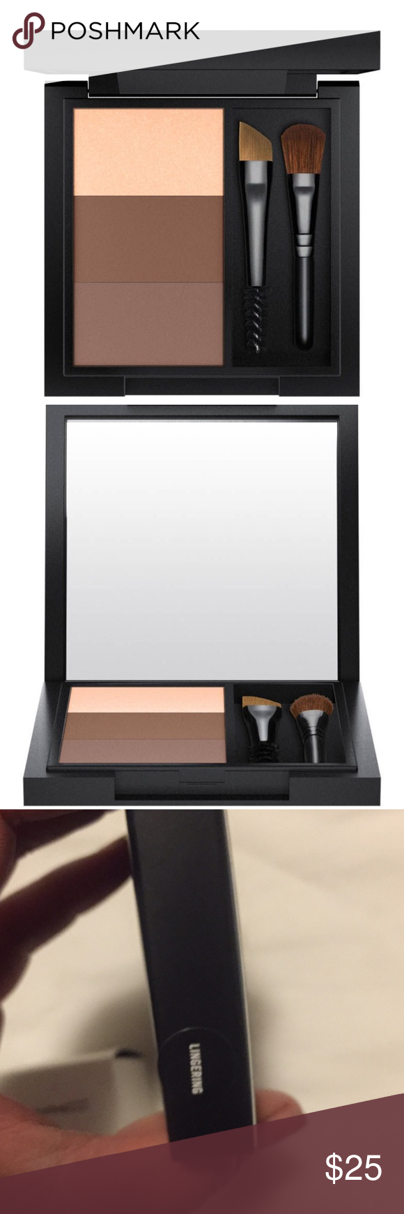 Great Brows all in One by MAC in Lingering This compact is brand New never been used or opened. Mac Brow all in one compact the color is Lingering comes with 3 tones 2 for Brows and the other for highlighting. Also includes 2 small brushes . Brand New with Box. Great brow filler 🎉 MAC Cosmetics Makeup Eyebrow Filler