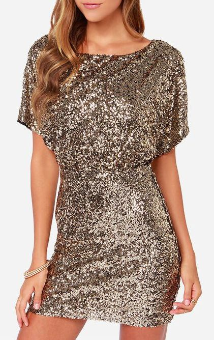 Glory Never Fades Gold Sequin Dress New Years!!