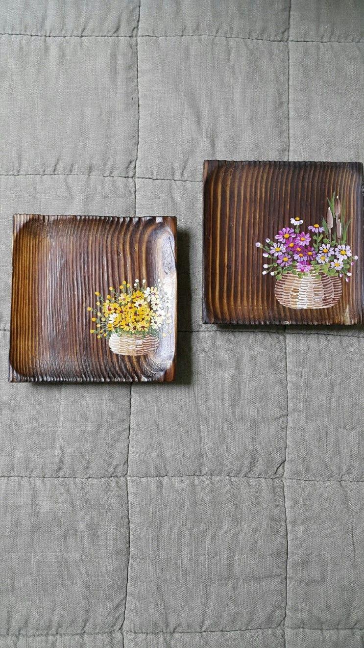 찻잔 받침대고제 찻잔받침대 가로10 세로10 앙징스런 찻잔받침대 지인이 주문하신 찻잔받침대 원목 공예 나무장식