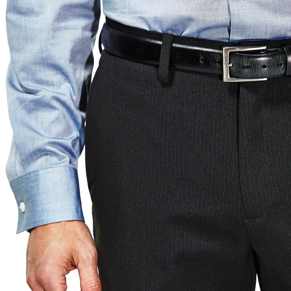New Haggar Mens Travel Performance Tailored Fit Pinstripe Dress Slacks 32 X 30 #Haggar #DressFlatFront