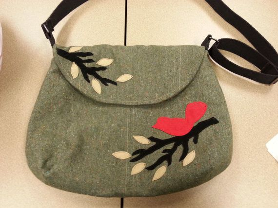 Pdf pattern b bag with bird applique s tutorial instant