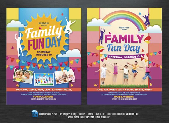 Family Fun Day Flyers Flyer Template - Fun brochure templates